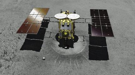 """Japonijos zondas """"Hayabusa2"""" antrąkart nusileido ant tolimo asteroido"""