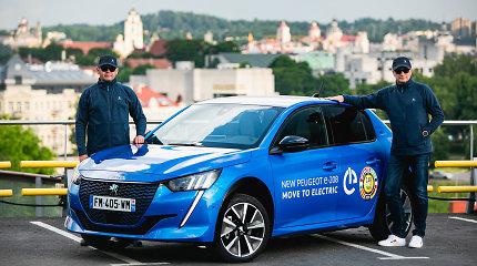 """V.Milius ir A.Bubinas elektromobilių varžybose bandys pažaboti """"Peugeot e-208"""""""