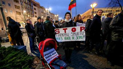 Mitingas prie Seimo: reikalauja nesikišti į privatų gyvenimą ir neardyti šeimų