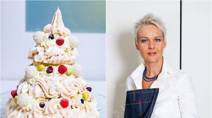 "Nidos receptas: morengų tortas ""Eglutė"""
