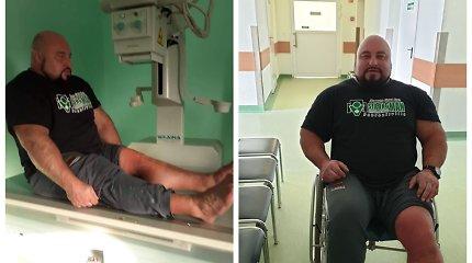 Tauragės ligoninėje – traumuotas galiūnas Vidas Blekaitis
