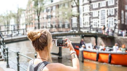 Amsterdamas mokestį turistams pakėlė iki didžiausio Europoje