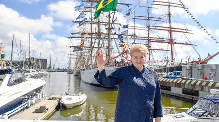 """Prezidentė Dalia Grybauskaitė: """"Uosto plėtra – būtina"""""""