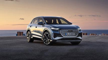 """Lietuvoje jau galima užsisakyti elektrinį """"Audi Q4 e-tron"""" – SUV iš ateities"""