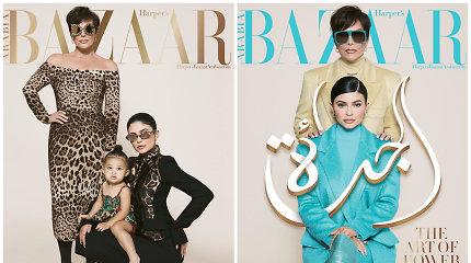 "Kylie Jenner dukra atsidūrė ant žurnalo viršelio: papuošė arabiškąjį ""Harper's Bazaar"""
