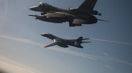 NATO oro policijos naikintuvai septynis kartus lydėjo Rusijos orlaivius