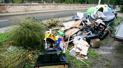 Atliekų konteineriai Vilniuje: kol vieni rūšiuoja, kiti – numoja ranka