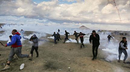 Gazos Ruožo ir Izraelio pasienyje po trijų savaičių pertraukos atsinaujino protestai