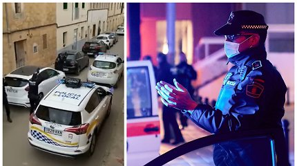 Ispanijos gatvėse – pareigūnų dovana likusiems namie: atliko garsųjį šokį