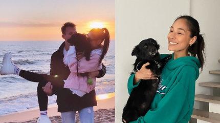Kelią į Keitės Arai širdį atvėrė mylimojo globojamas, degalinėje rastas šuniukas
