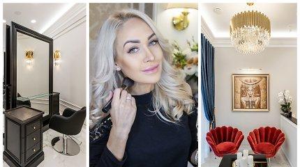 Oksana Pikul-Jasaitienė atidarė savo grožio saloną: jam taupė beveik pusę gyvenimo