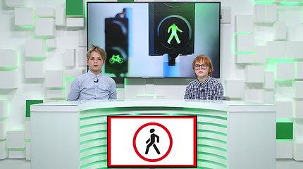 """""""Būk saugus kelyje"""". Kalba vaikai. Kaip atpažinti klaidinančius kelio ženklus?"""
