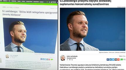 Melagienų kūrėjai klastoja portalo 15min naujienas: taikinyje G.Landsbergis