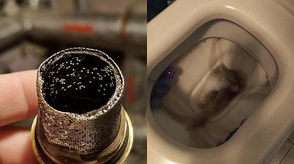 Dalis Vilniaus gyvena su juodu, drumzlinu vandeniu: kemšasi filtrai, genda buitinė technika