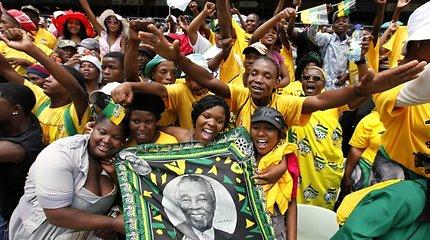 Pietų Afrikos Respublikos valdančioji partija švenčia savo šimtmetį