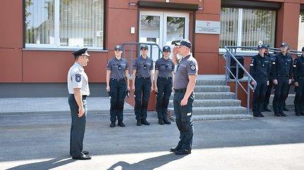 Rekonstruotas policijos komisariatas Naujojoje Akmenėje ir sporto kompleksas Telšiuose