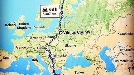 Vitoldas Milius keliauja iš šiauriausio į piečiausią Europos tašką