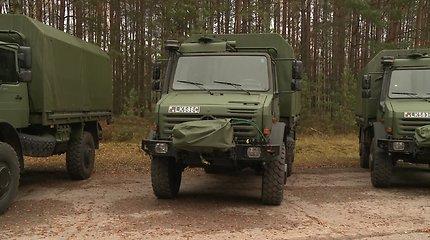 Sunkvežimių UNIMOG perdavimas Lietuvos kariuomenei
