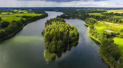 Aukštaitijos nacionalinis parkas ir Labanoro giria iš paukščio skrydžio