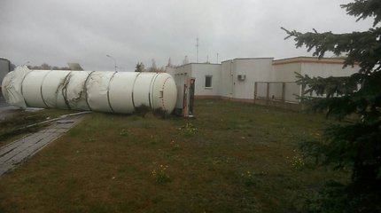 Kalvarijos savivaldybėje vertėsi vilkikas su dujų cisterna