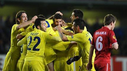 """Europos futbolo lygos ketvirtfinaliuose – """"Porto"""", """"Benfica"""" ir """"Villarreal"""" įvarčių lietus"""