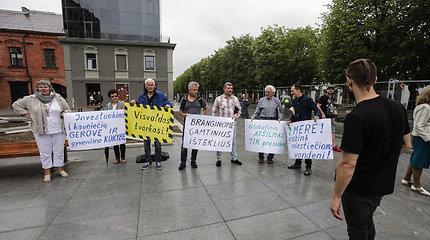 Kaune protestuota dėl vandens trūkumo
