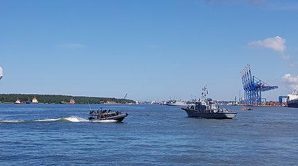 Įspūdingo masto karinės pratybos Klaipėdos uoste