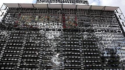 Rekordas: Vilniuje pastatyta didžiausia radijo imtuvų dekoracija
