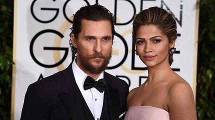 Aktorius Matthew McConaughey su žmona Camila Alves