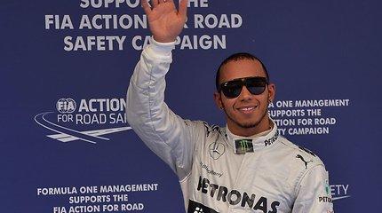 Kvalifikacijoje triumfavęs Lewisas Hamiltonas: esu ekstazėje