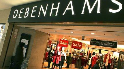 """JK universalinių parduotuvių tinklas """"Debenhams"""" pateko į kreditorių rankas"""