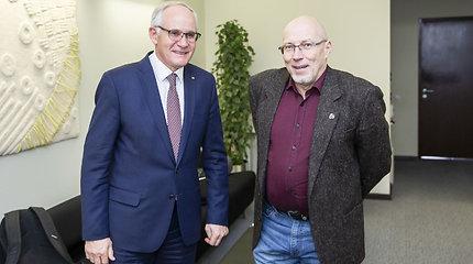 Algirdas Monkevičius susitiko su Lietuvos švietimo profesinės sąjungos pirmininku Audriumi Jurgelevičiumi