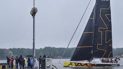 """Per Atlantą iki Europos: """"Ambersail 2"""" prisišvartavo Klaipėdoje ir netrukus kils iš vandens"""