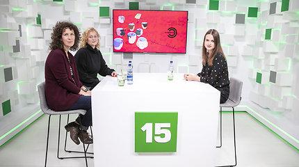 """15min studijoje – festivalio """"Sirenos"""" meno vadovė Kristina Savickienė ir lietuviškosios programos koordinatorė Agnė Pulokaitė"""