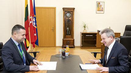 Susisiekimo ministras Jaroslavas Narkevičius susitiko su policijos generaliniu komisaru Renatu Požėla