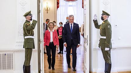 """G.Nausėda pakvietė EK vadovę apsilankyti """"Kauno – Europos kultūros sostinės"""" atidaryme"""