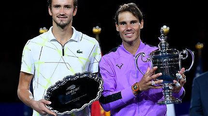 """Dramatiškas Rafaelio Nadalio triumfas """"US Open"""""""