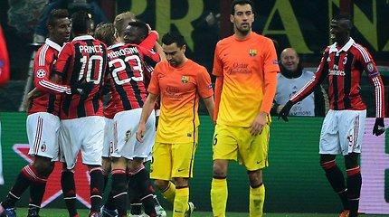 """Čempionų lyga: nenugalimoji """"Barcelona"""" krito prieš """"Milan"""""""