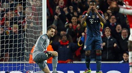"""Čempionų lyga: """"Arsenal"""" – """"Bayern"""""""