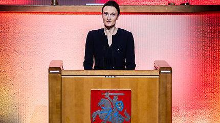 Seimo pirmininkė minint Sausio 13-ąją: karantino ribojimai grąžina ano laikmečio dvasią