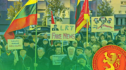 Protestuotojų prieš LRT kišenėse – pinigai iš Lenkijos