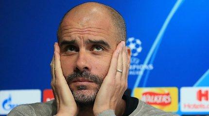 Trečio titulo per sezoną siekiantis Pepas Guardiola klausimą atrėmė geru atsakymu