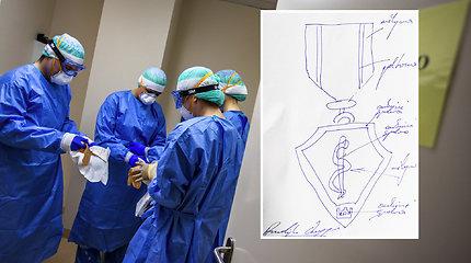 Su COVID-19 kovojantiems medikams atsidėkos paauksuotais medaliais: eskizą piešė pats A.Veryga