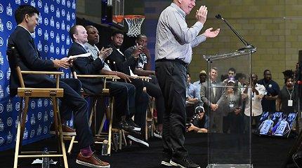 """""""Clippers"""" pristatė dvi superžvaigždes: Kawhi Leonardą ir Paulą George'ą"""
