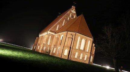 Atgimstanti Zapyškio Šv. Jono Krikštytojo bažnyčia bus matoma ir naktį