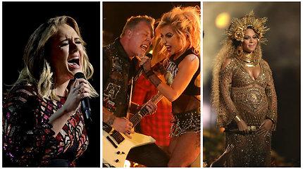 """""""Grammy"""" apdovanojimų pasirodymai: nuo Adele iki dvynių besilaukiančios Beyonce šou"""