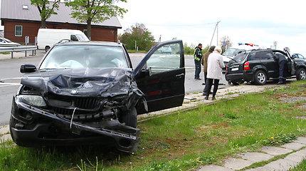 """Panevėžio rajone susidūrė BMW ir """"Hyundai"""""""