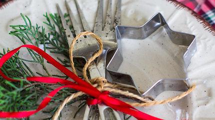 Kalėdų stalo dekoro idėjos