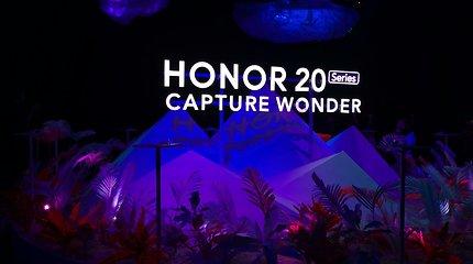 """""""Honor 20"""" išmanųjų telefonų linijos pristatymas"""
