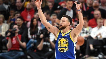 "Vakarų konferencijos finale – trečioji ""Warriors"" pergalė"